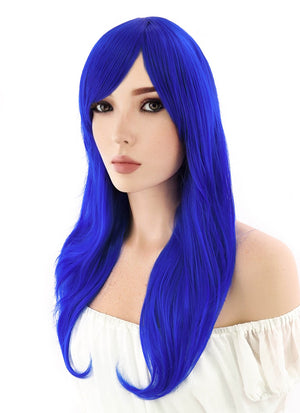 Long Wavy Blue Cosplay Wig PL383 - CosplayBuzz