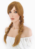 Frozen Anna Long Curly Brown Anime Cosplay Wig PL401 - CosplayBuzz