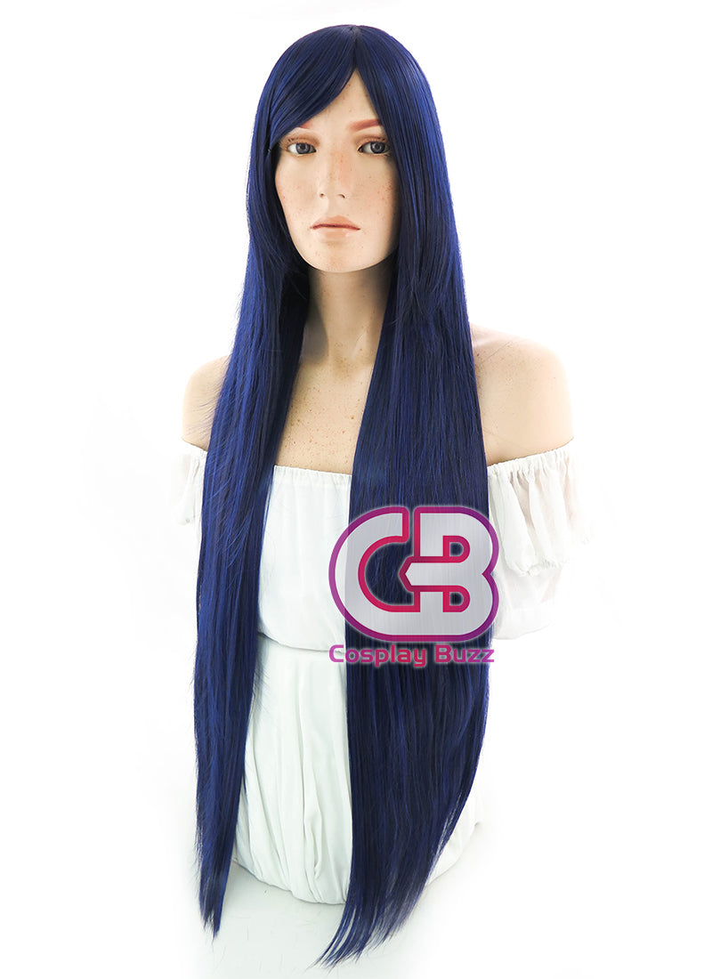 Long Straight Blue Mixed Black Cosplay Wig PL413B - CosplayBuzz