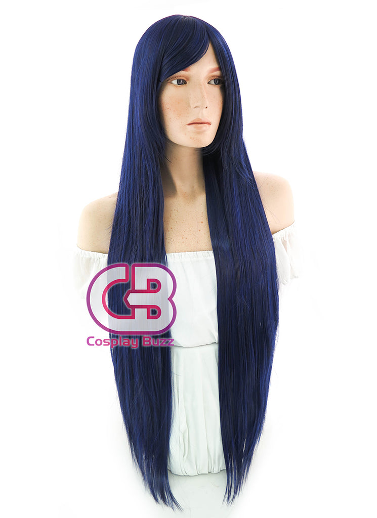 100CM Long Straight Blue Mixed Black Cosplay Wig PL413B - CosplayBuzz