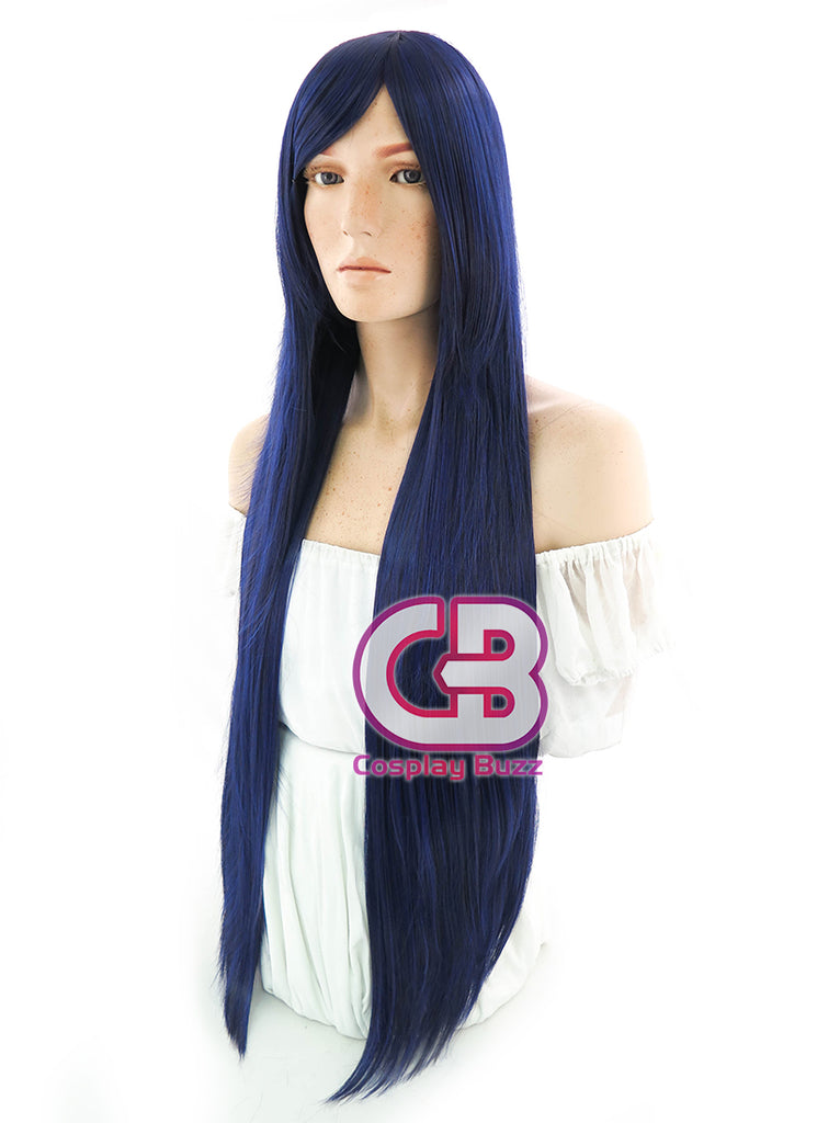 League of Legends LOL Caitlyn Officer Long Dark Blue Anime Cosplay Wig PL413 - CosplayBuzz
