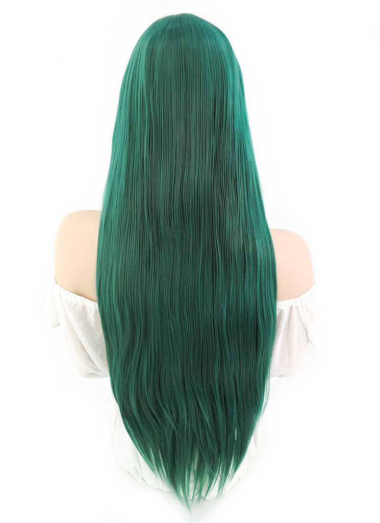 Long Straight Dark Green Cosplay Wig PL476 - CosplayBuzz