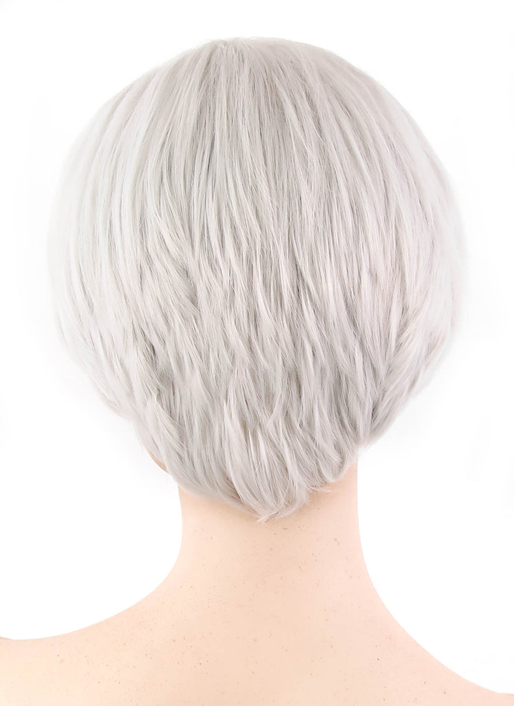 NieR:Automata 9S Short Silver Grey Anime Cosplay Wig PL496A