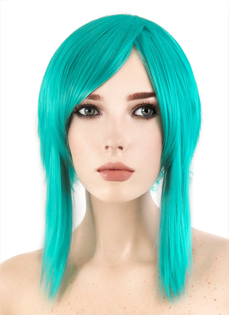 Land of the Lustrous Diamond Short Straight Turquoise Green Anime Cosplay Wig PL506 - CosplayBuzz