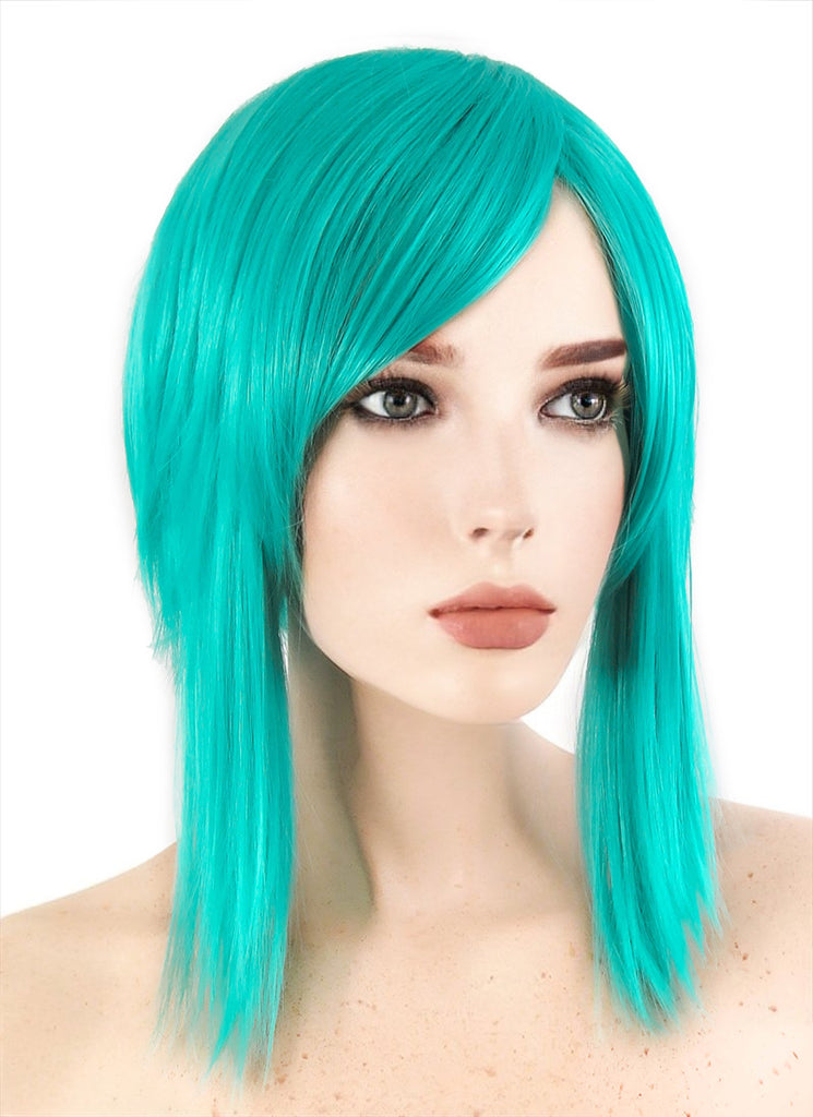 Land of the Lustrous Diamond Short Straight Turquoise Green Anime Cosplay Wig PL506