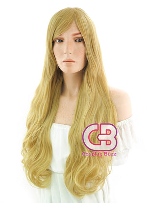 Long Curly Gloden Brown Cosplay Wig TB1469 - CosplayBuzz