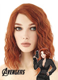 Marvel Comics The Avengers Black Widow Short Curly Reddish Orange Anime Cosplay Wig TBZ1070A