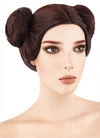 Star Wars Princess Leia Short Brown Anime Cosplay Wig TBZ1136 - CosplayBuzz