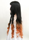 Demon Slayer: Kimetsu No Yaiba Kamado Nezuko Long Black With Orange Cosplay Wig TBZ1161 - CosplayBuzz