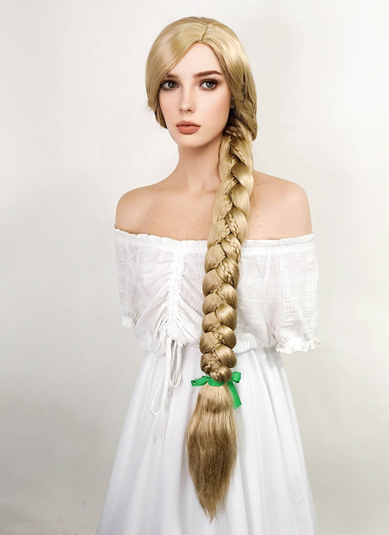 Disney Princess Tangled Rapunzel Long Blonde Cosplay Wig TBZ1162