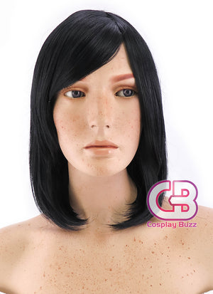 Medium Jet Black Cosplay Wig TBZ920 - CosplayBuzz