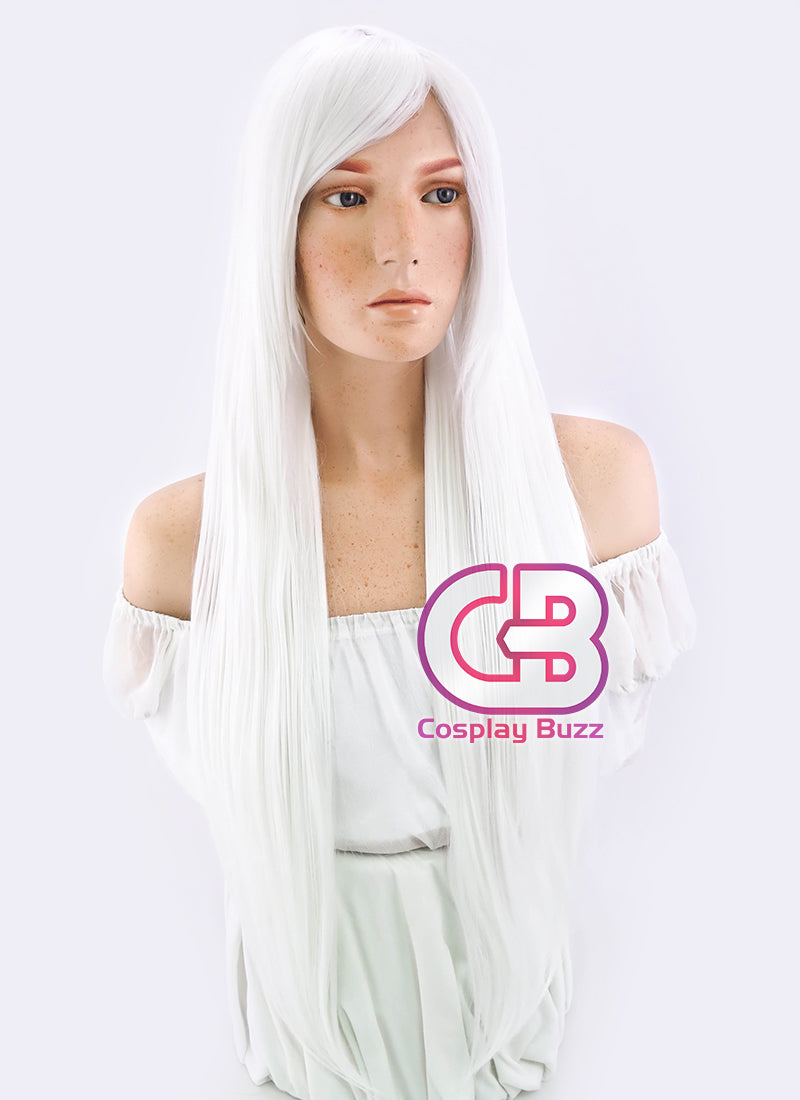 Long Straight White Cosplay Wig TBZ941 - CosplayBuzz