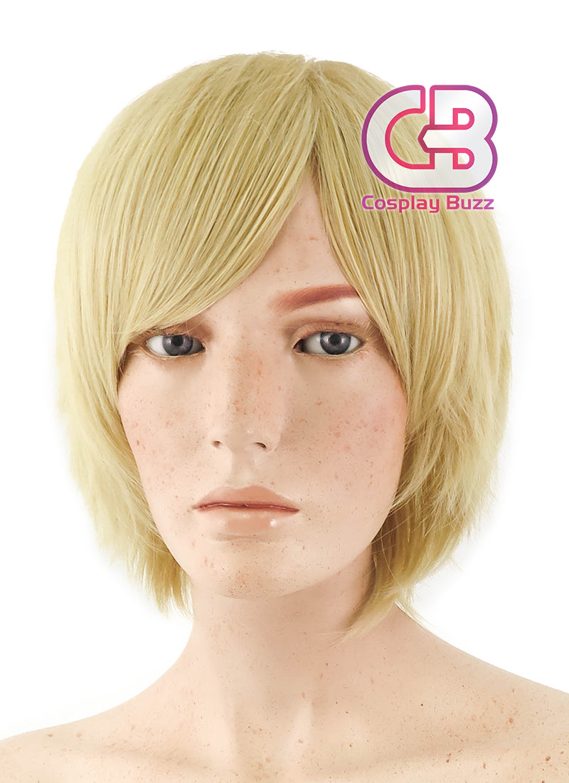 Short Wavy Blonde Cosplay Wig TBZ966 - CosplayBuzz