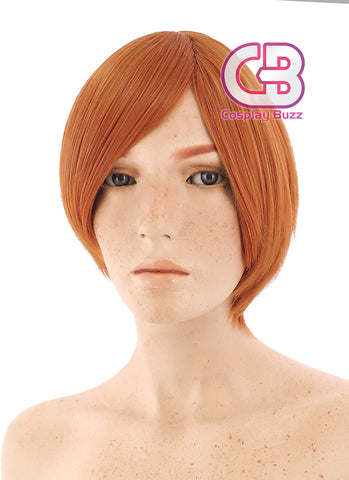 25CM Short Straight Black Cosplay Wig PL444