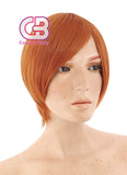 25CM Short Wavy Orange Cosplay Wig TBZ994 - CosplayBuzz