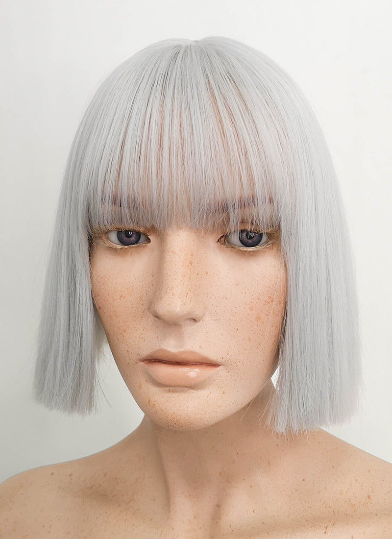 Short Straight Grey Bob Cosplay Wig TH022