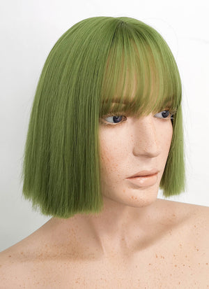 Short Straight Green Bob Cosplay Wig TH023