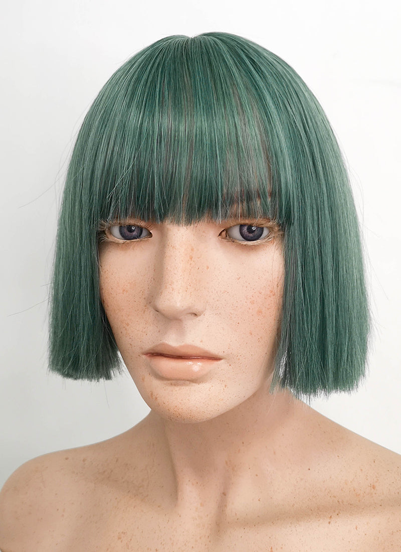 Short Straight Dark Green Bob Cosplay Wig TH027