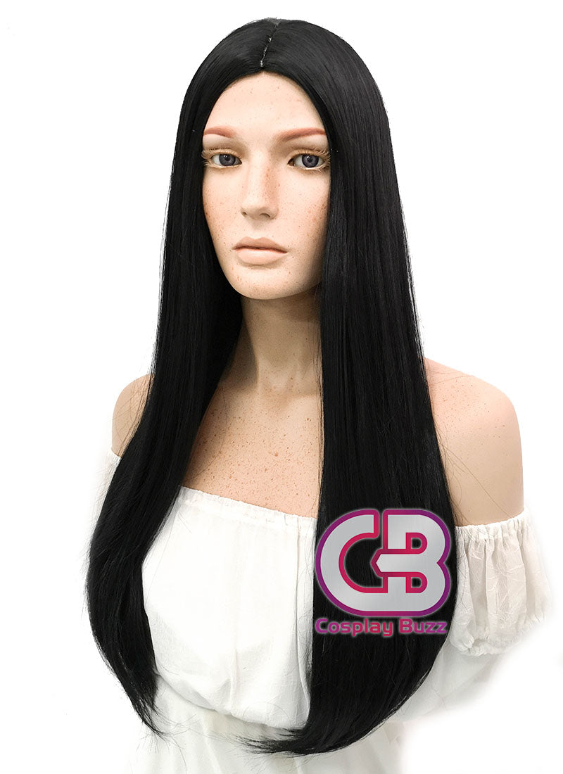 Long Straight Black Cosplay Wig WIG094 - CosplayBuzz
