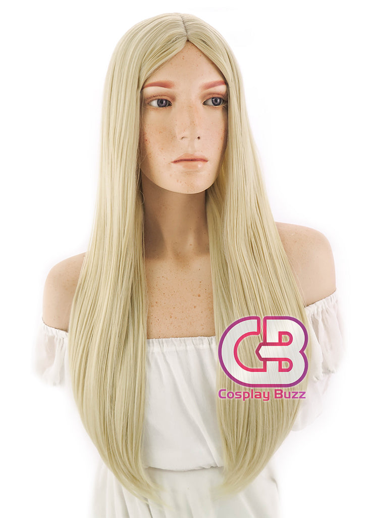 "24"" Long Straight Light Blonde Cosplay Wig WIG095"