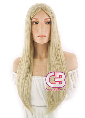 Long Straight Light Blonde Cosplay Wig WIG095 - CosplayBuzz