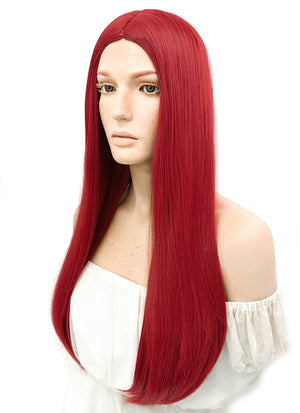 Long Straight Red Cosplay Wig WIG096 - CosplayBuzz