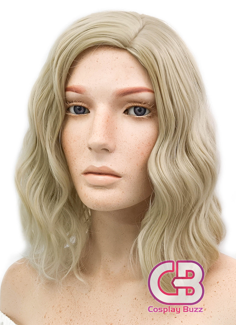 Medium Wavy Blonde Bob Cosplay Wig WIG200 - CosplayBuzz