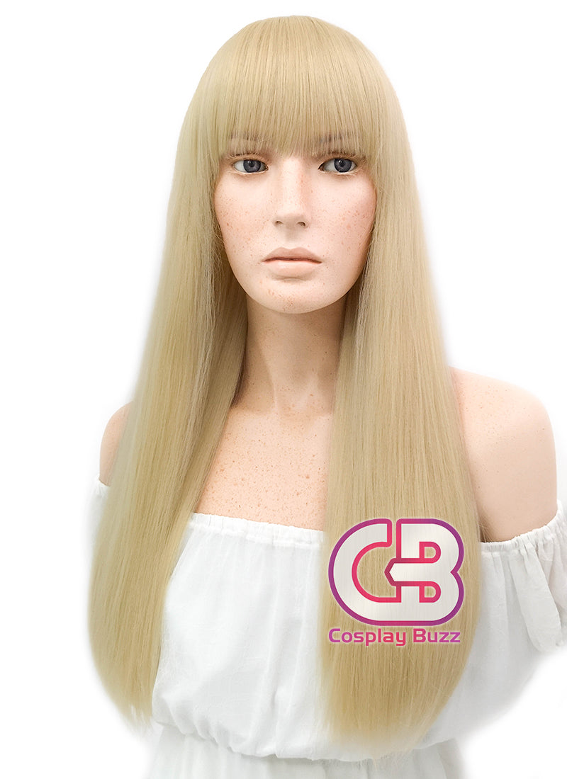 Long Straight Blonde Cosplay Wig WIG318 - CosplayBuzz