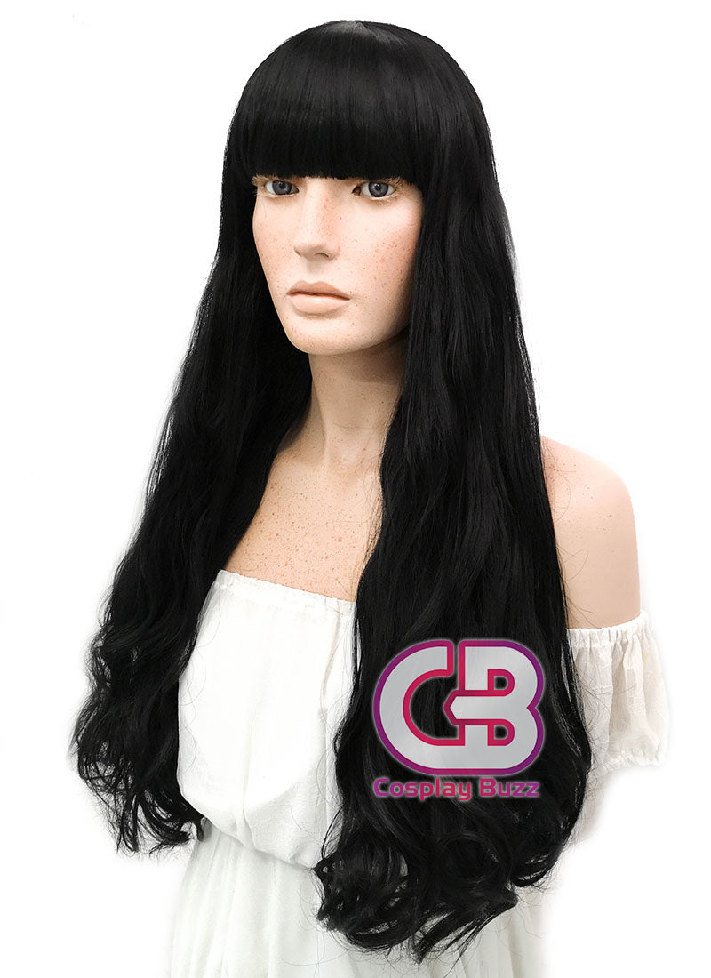 Long Wavy Black Cosplay Wig WIG359 - CosplayBuzz