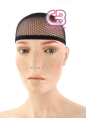 Stylish Fishnet Elastic Wig Cap Black / Yellow / Coffee - CosplayBuzz
