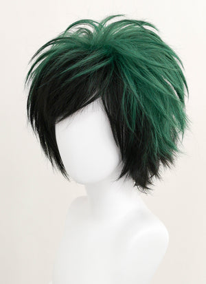 My Hero Academia Midoriya Izuku Short Mixed Green Anime Cosplay Wig ZB240 - CosplayBuzz