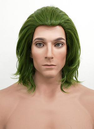 DC Joker Short Wavy Green Anime Cosplay Wig ZB244 - CosplayBuzz