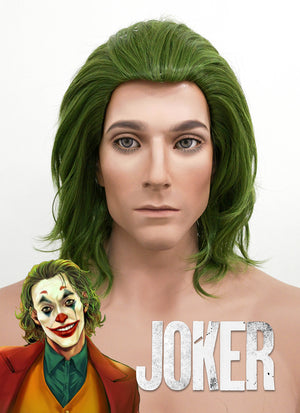 DC Joker Short Wavy Green Anime Cosplay Wig ZB244