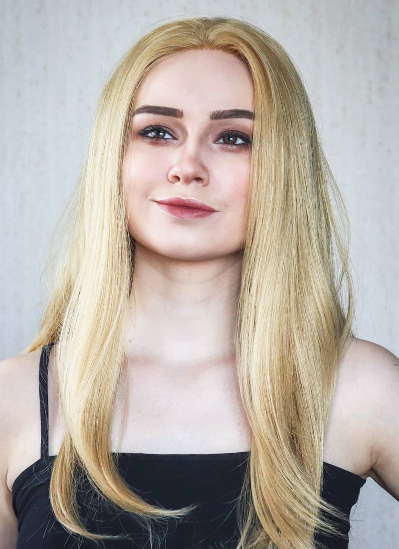 Long Straight Blonde Lace Front Synthetic Hair Wig LF331