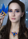 Long Dark Brown Braided Lace Front Synthetic Wig LF2040