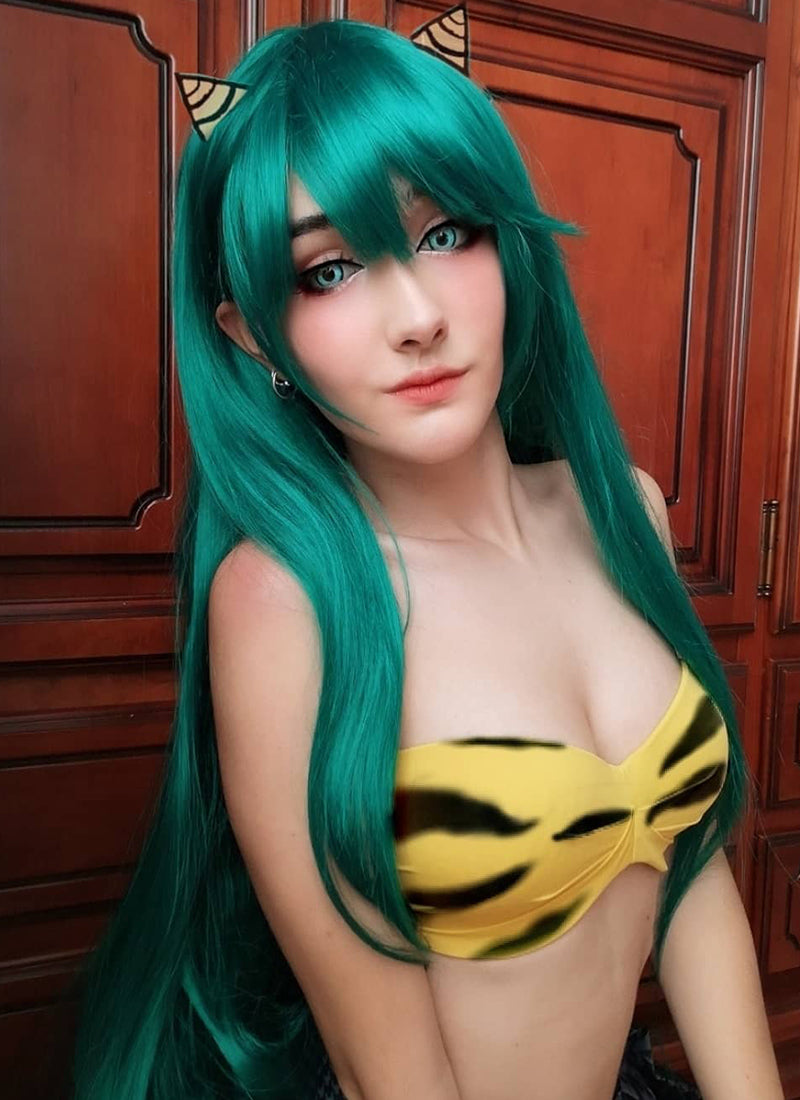 Long Straight Dark Green Cosplay Wig PL476