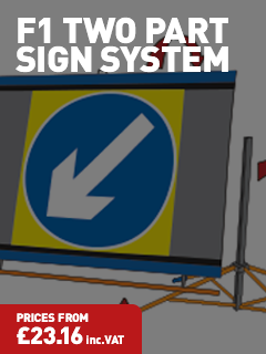 F1 TWO-PART SIGN SYSTEM