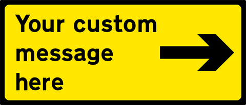 Black/Yellow - Right Arrow - 1050x450mm