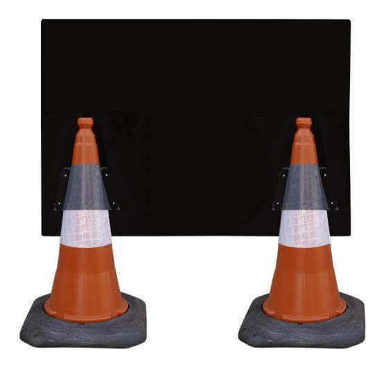 1050x750mm Cone Sign - Workforce In Road SLOW - 7001.3