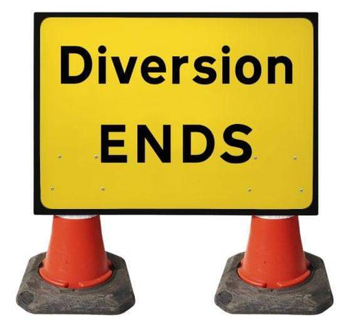 1050x750mm Cone Sign - Diversion Ends - 2702 (4308413874210)