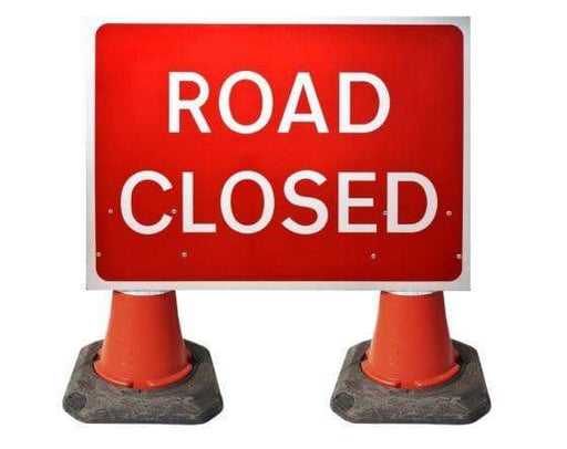 1050x750mm Cone Sign - Road Closed - 7010.1 (4308341325858)
