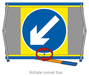 F2 Flexible Fold-Away Sign - No Right Turn