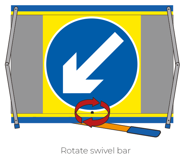 F2 Flexible Fold-Away Sign - No Left Turn