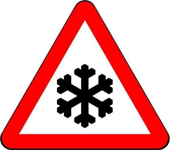 750mm Triangle - Warning Ice / Snow - 554.2 - Rigid Plastic (4133058478114)