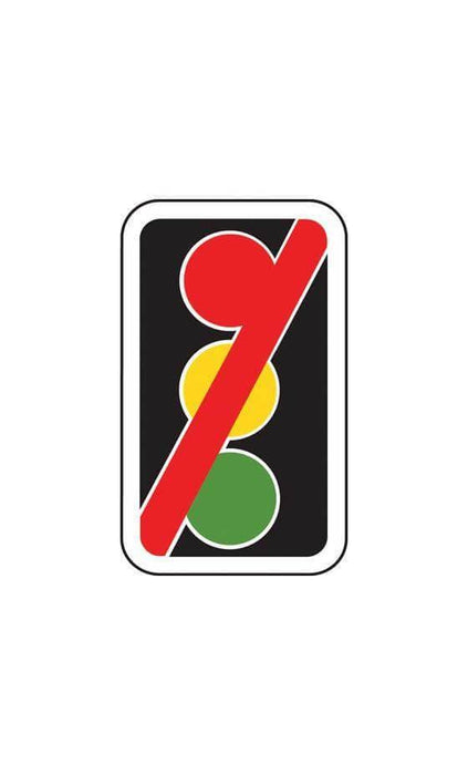 420x700mm Traffic Signals Not in Use - 7019 - Rigid Plastic