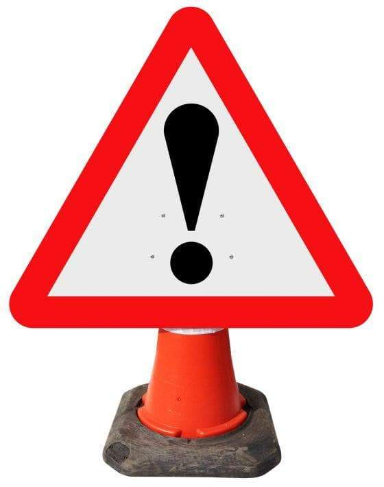 Triangle Cone Sign - Warning Other Danger ! - 562 (4298892804130)