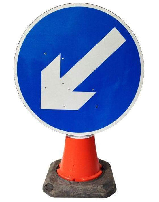 Circle Cone Sign - Directional Arrow Movable - 610 (4298911055906)