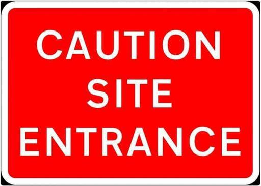 1050x750mm Caution Site Entrance - 7010.1 - Rigid Plastic (4133119328290)