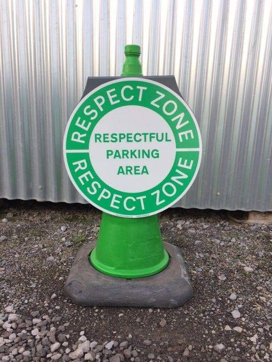Circle Cone Sign - Respect (4308435828770)