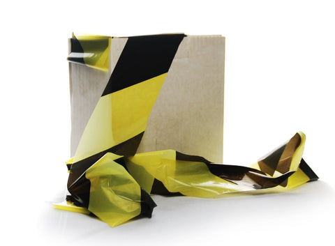 Economy Barrier Tape Black and Yellow 500m
